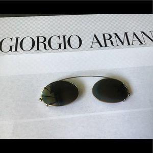 Authentic Vintage Giorgio Armani Silver Clip-On